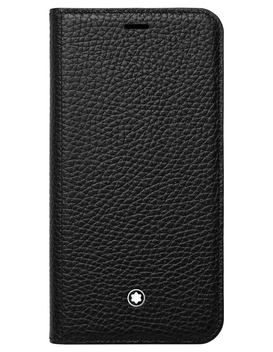 cheaper e9d24 e0350 Funda para iPhone X Montblanc Meisterstück Soft Grain de piel negra